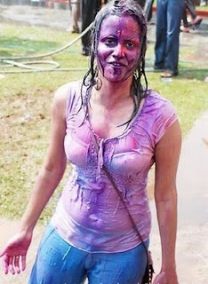 Deshi Sexy Teen College Girl Playing Holi