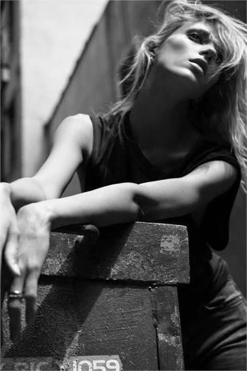 Anja Rubik - BLK DNM Summer 2014 Campaign