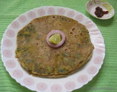 Aloo Palak paratha