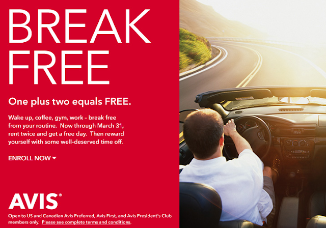 Avis Break Free - Free Rental Days