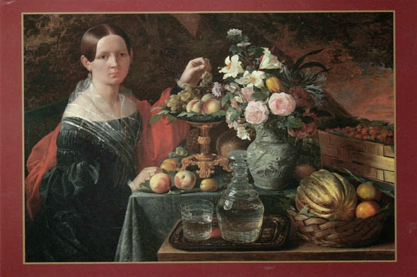 The_portrait_of_a_stranger_with_flowers_and_fruit _by_Ivan_Hruckiy