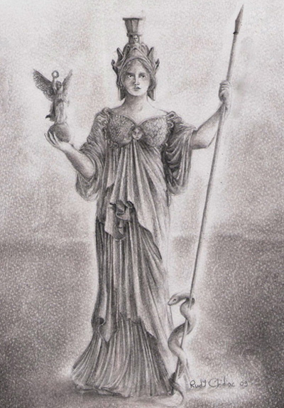 Goddess Athena Image, Artwork and Illustration