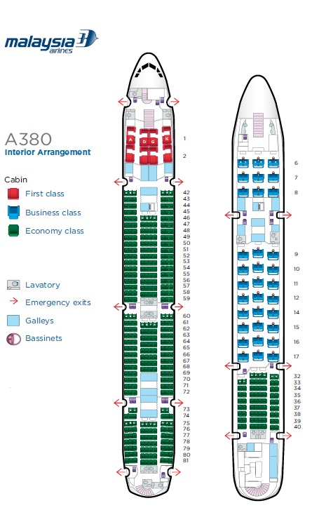 Ricky S Memoirs Malaysia Airlines New Airbus A380 Seating
