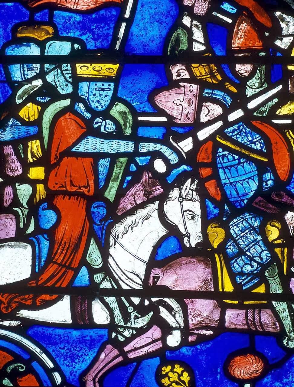 Vitral de Carlos Magno, na catedral de Chartres