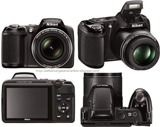 Harga dan Spesifikasi Kamera Nikon Coolpix L320 Terbaru