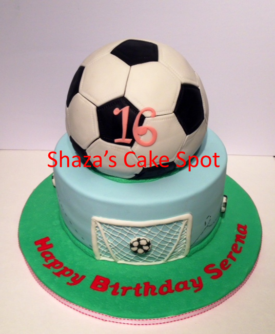 Sweet 16 Soccer Birthday Cake