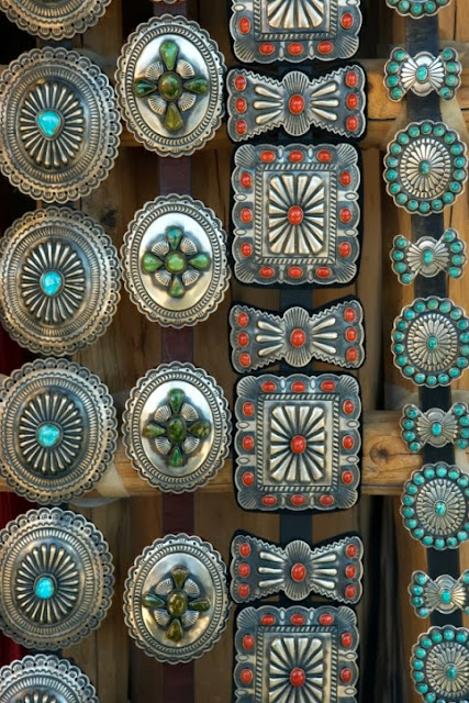 Native American Concho belt selections