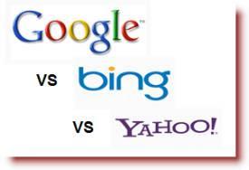 Google vs Bing vs Yahoo