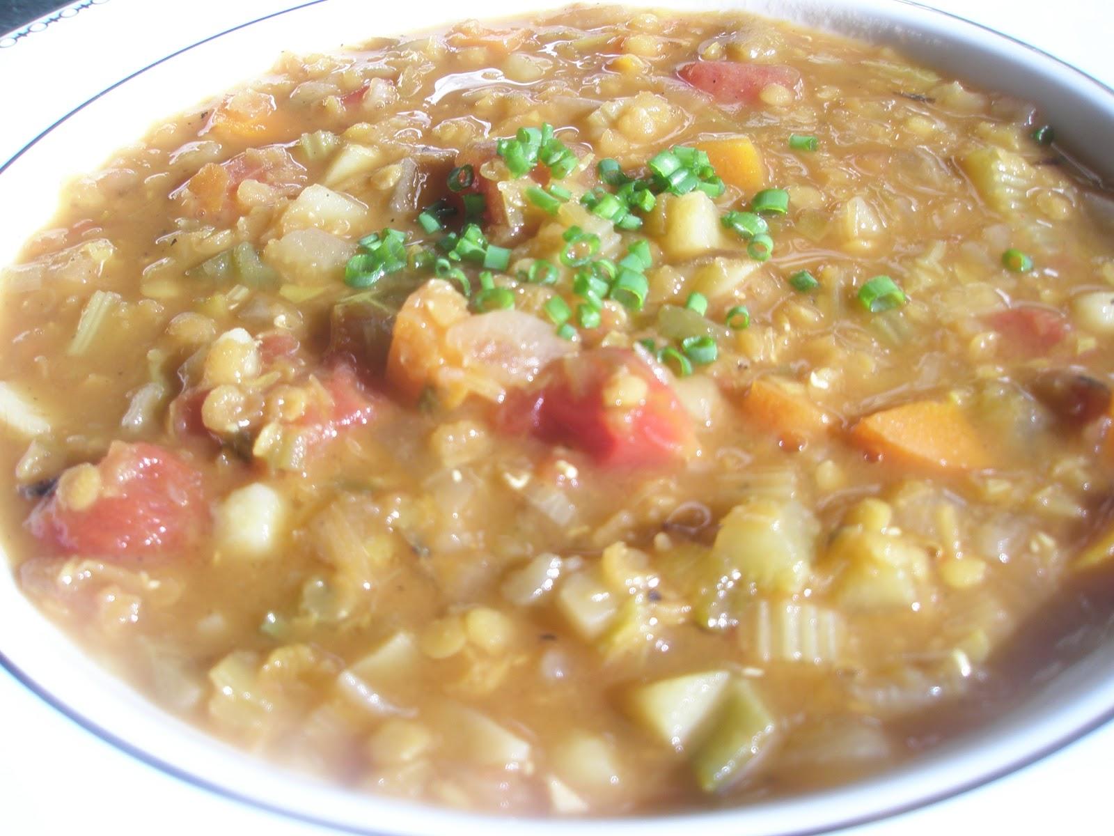Got it, Cook it: Rustic Lentil Vegetable Soup