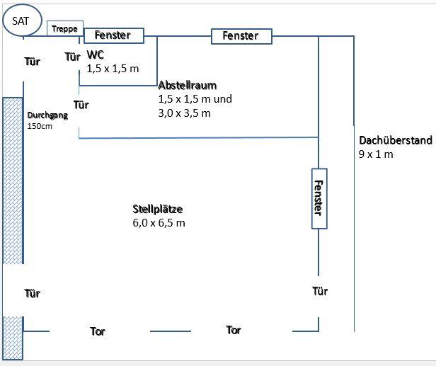 Doppelgarage mit abstellraum grundriss  Projekt Eigenheim: Das Teilprojekt - Die Doppelgarage