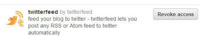 Revoke access to twitterfeed