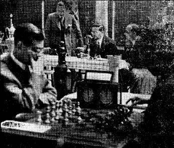 Partida de ajedrez en el II Encuentro Ibérico de Ajedrez 1946