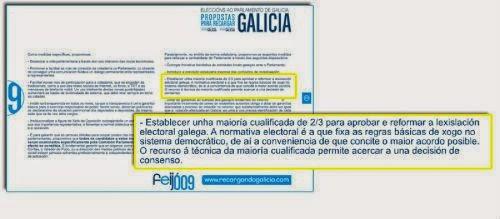 Referencia á reforma electoral no programa do PP en 2009
