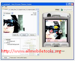 Sony Ericsson Themes Creator Latest Version V4.16 (English) Free Download