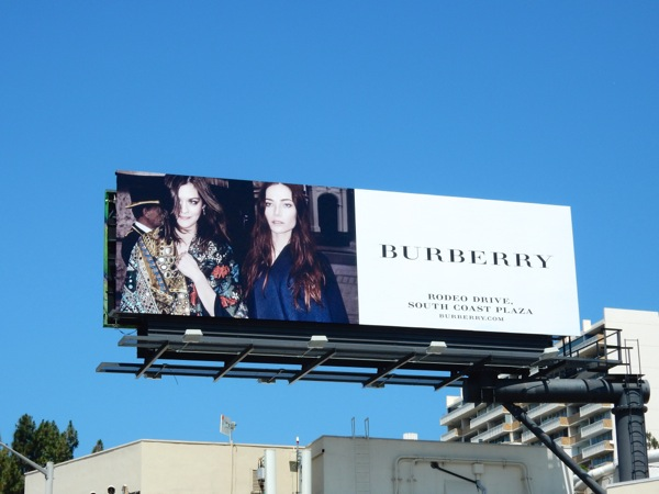 Burberry F/W 2015 fashion billboard