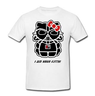 "Hello Kitty Star Wars Darth Vader T-Shirt - ""I am your kitty"""