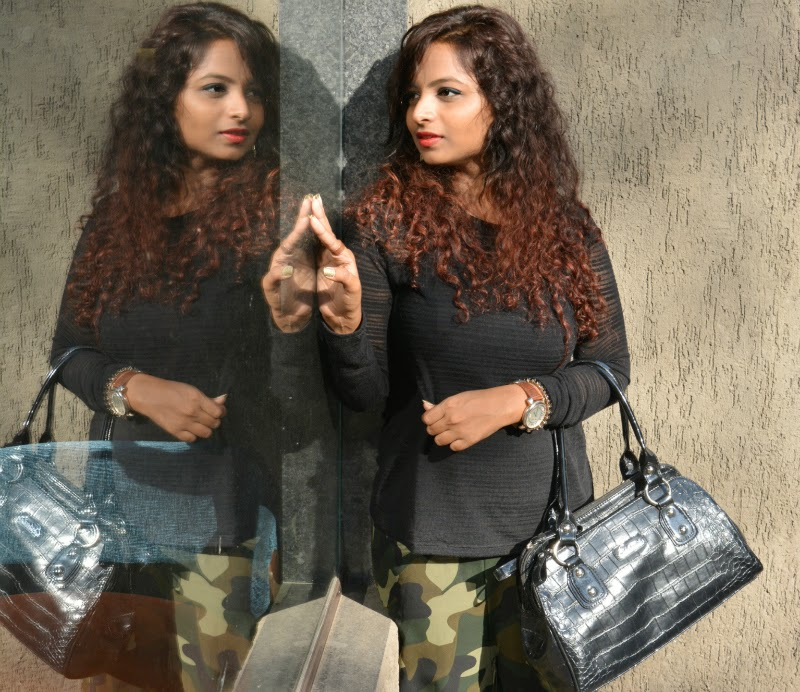 top indian fashion blogger military print fashion trend