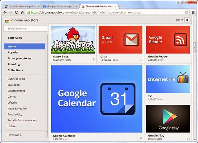 صورة من داخل متصفح جوجل كرومGoogle Chrome