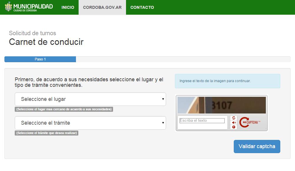 turnero digital de la municipalidad de Córdoba