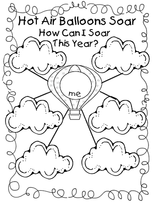 Hot Air Balloon Goal Setting Sheet