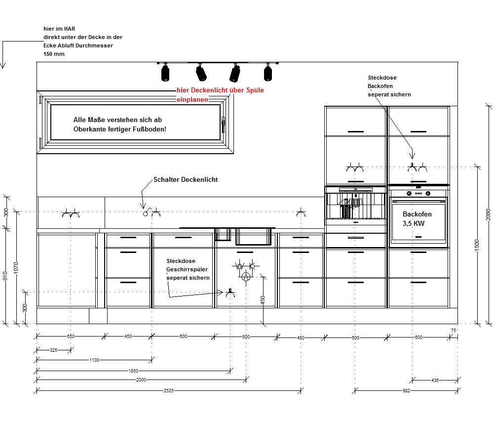 von der idee ber den bau bis hin zum einzug k che. Black Bedroom Furniture Sets. Home Design Ideas