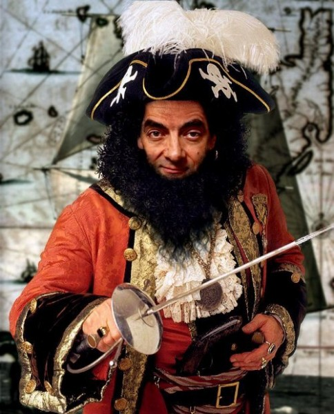 mr. bean in pirates of caribbian
