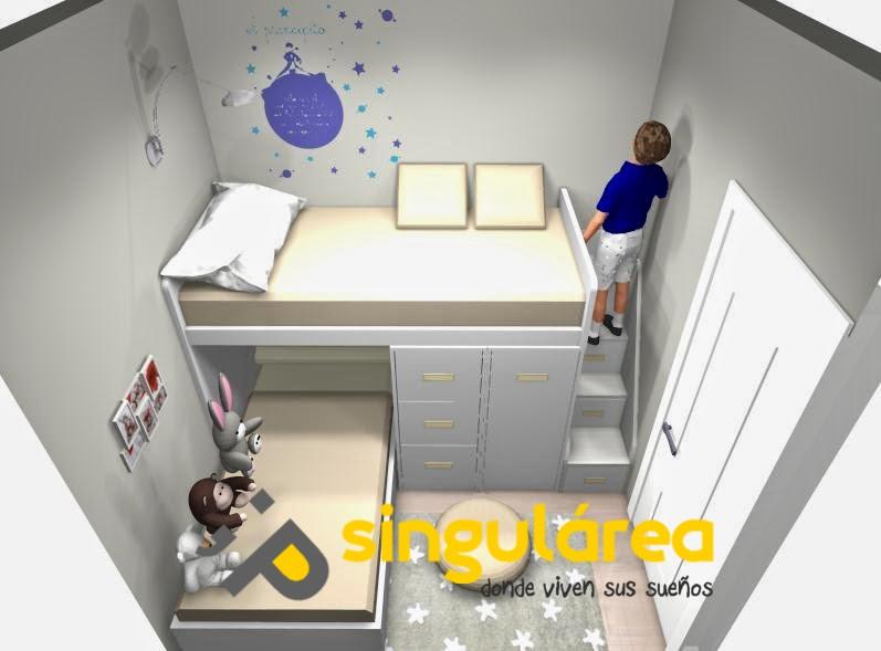 Blog dormitorios juveniles com una habitaci n infantil for Habitacion de 8 metros cuadrados
