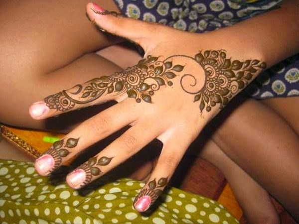 Flower Mehndi Designs For Back Hands : Fashion from east to west simple arabic mehndi designs for