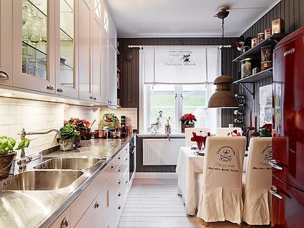 Casas decoradas por navidad decorar tu casa es for Casa de navidad cocina con sara