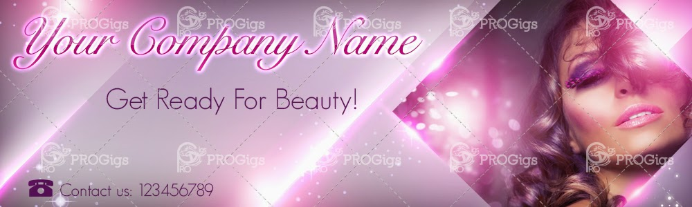 Beauty Website Header