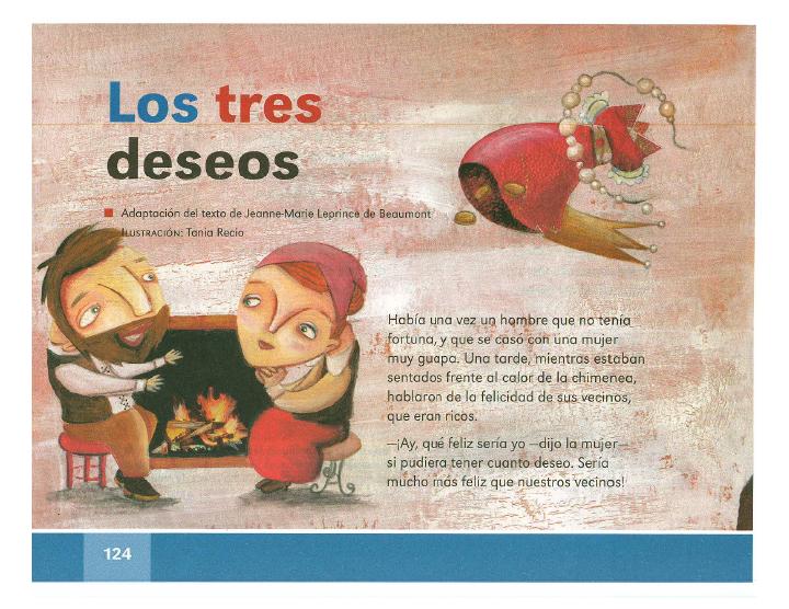 Los tres deseos español lecturas 2do bloque 5/2014-2015