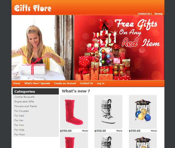 Ecommerce Site Name : The Best Gifts Store