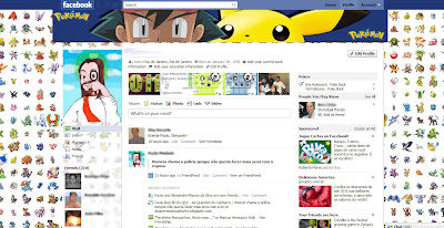 facebook skin layout - theme for facebook with Pokemon