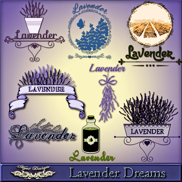 Lavender Dreams Add-On WordArt