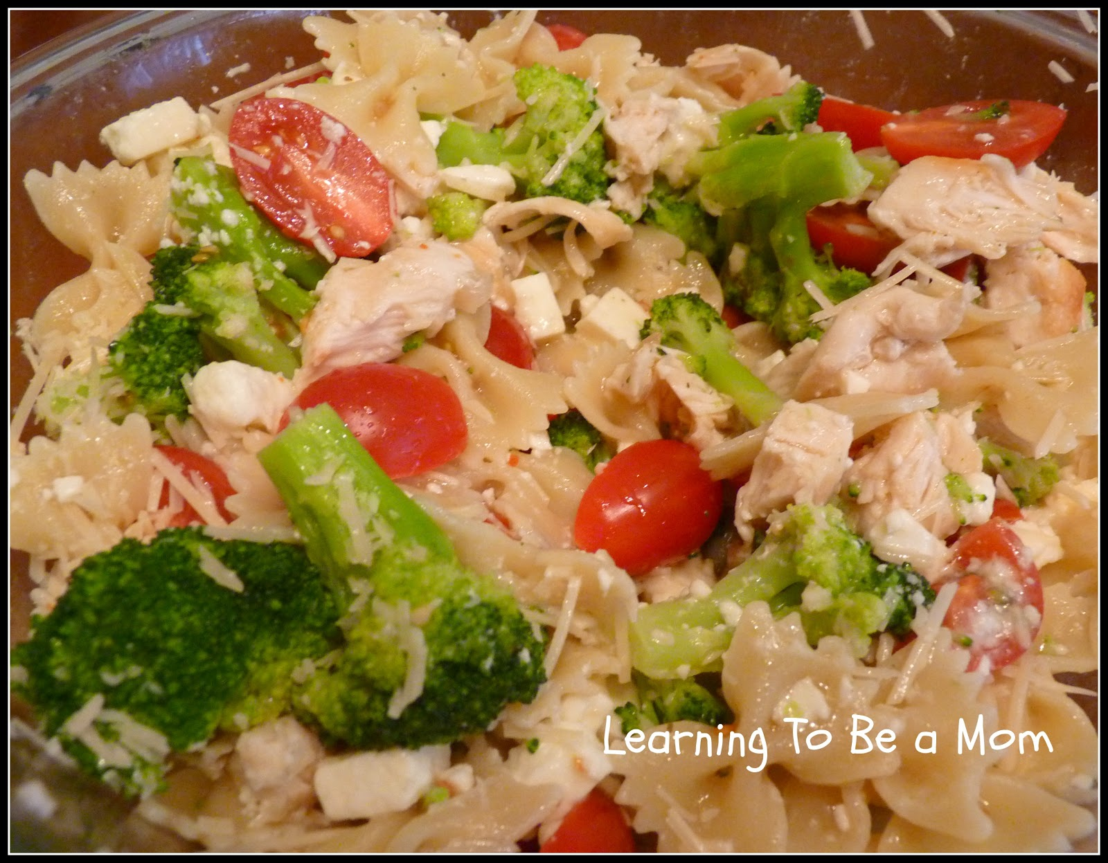 Learning To Be a Mom: Chicken Bow Tie Pasta Salad