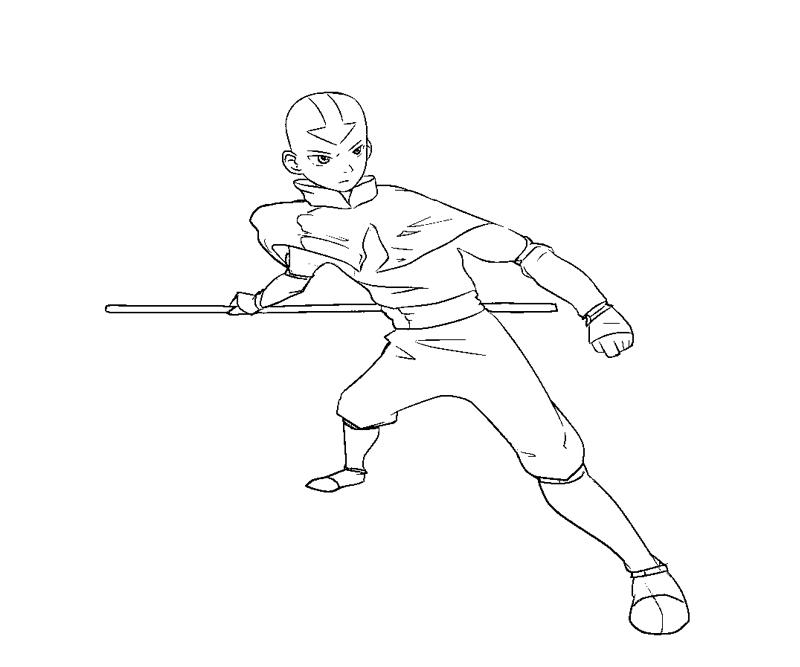 Printable Aang 5 Coloring Page