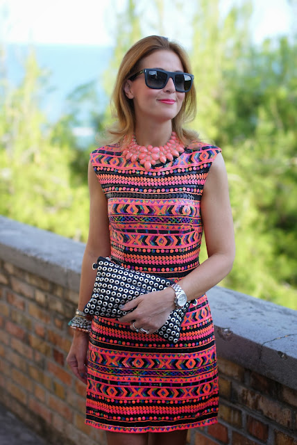 ethnic sequin dress, Zara studded clutch, elegant outfit, Fashion and Cookies, fashion blogger