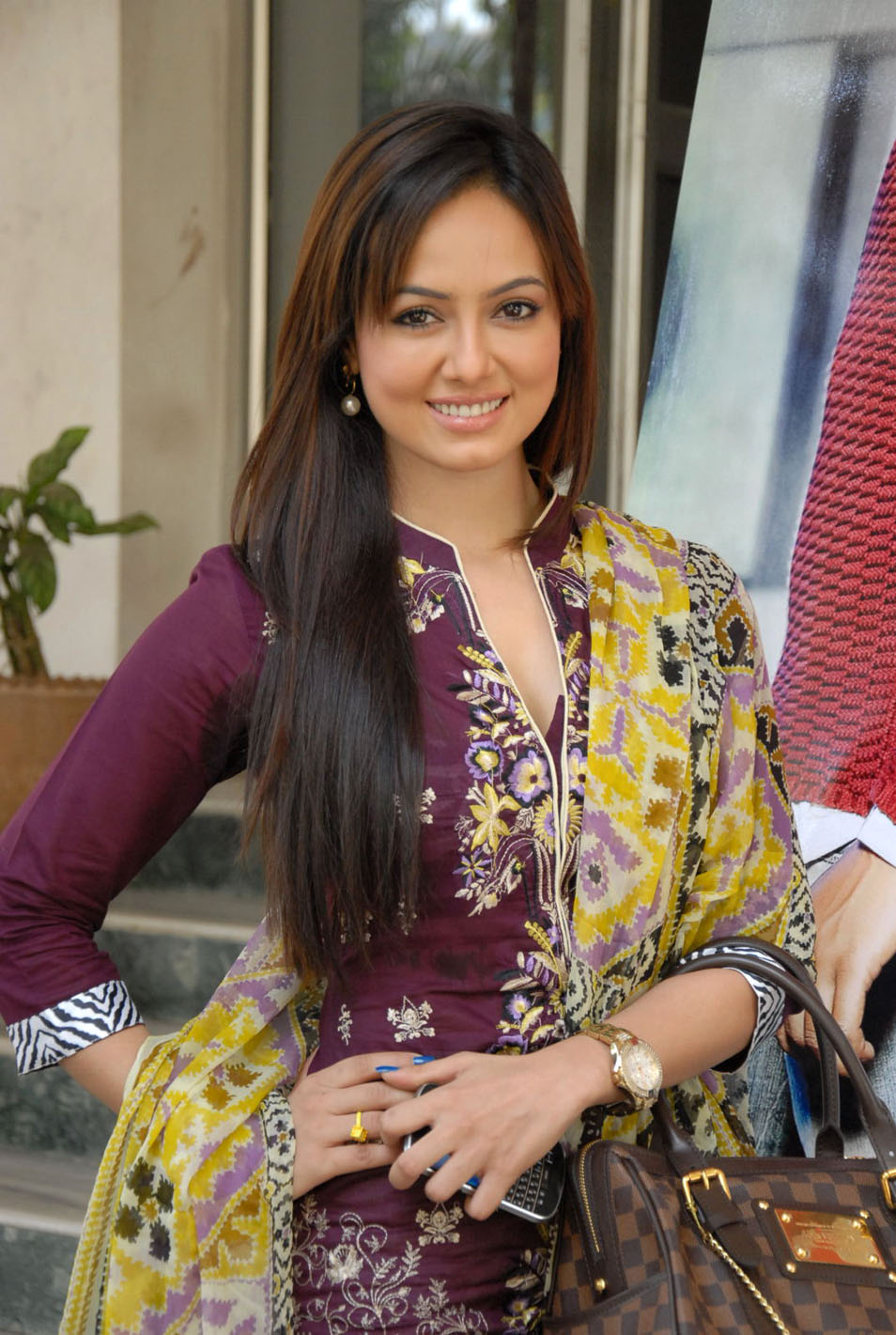 Sana Khan in Salwar Kameez at Mr. Nookayya Triple Platinum Disc