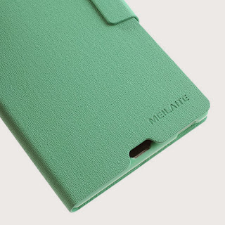 MLT Oracle Grain Leather Wallet Case with Stand for Sony Xperia Z Ultra XL39h C6806 - Baby Green