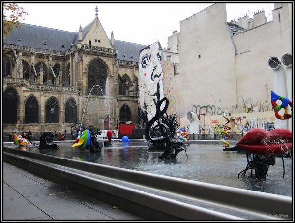 Chuuuttt Jeff Aérosol Paris fontaine Stravinsky