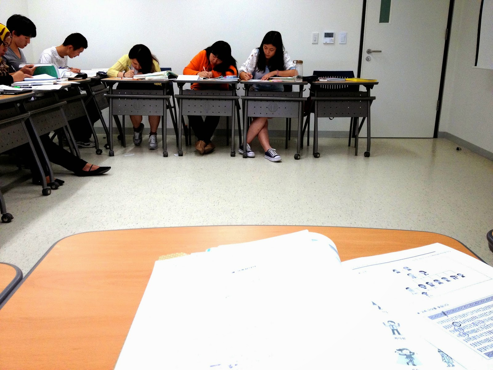 classroom Hankuk University Of Foreign Studies Seoul