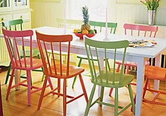 Ma Bicyclette: Home Interiors | How To Bring Summer Indoors - Pastel Chairs