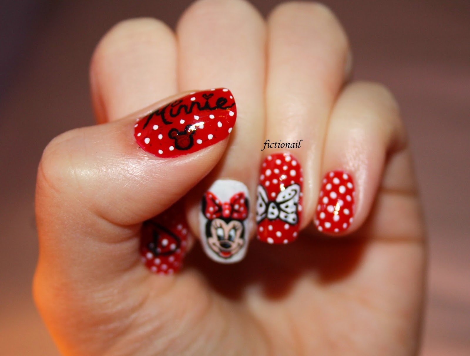 Minnie mouse nails fictionail nail art prinsesfo Image collections