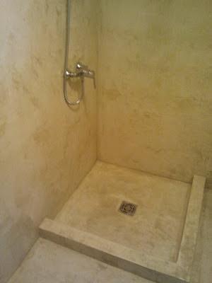 Reformas julio camarena ba o de cemento pulido - Pared cemento pulido ...