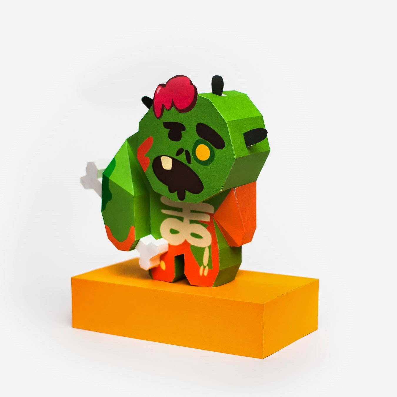 LINE Cookie Run Zombie Cookie Papercraft