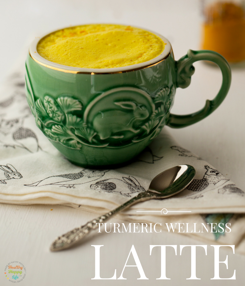 turmeric latte, vegan