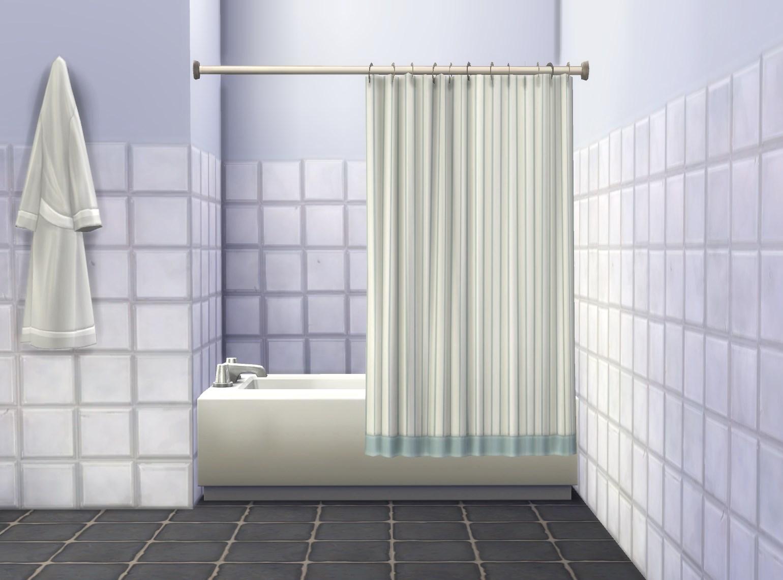My Sims 4 Blog: Bathtub Curtain by Plasticbox - MTS
