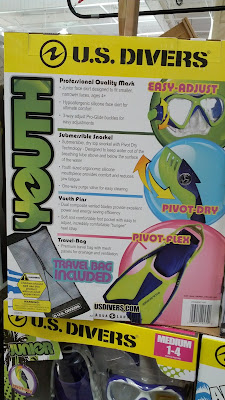 US Divers Youth Snorkel includes fins, snorkel, and mask