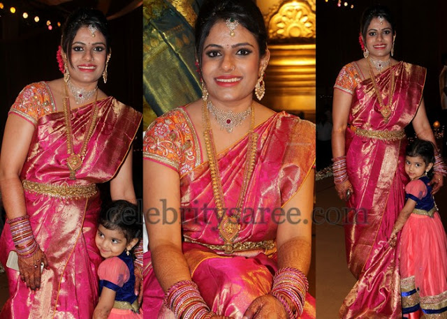 Bridal Saree Orange Work Blouse