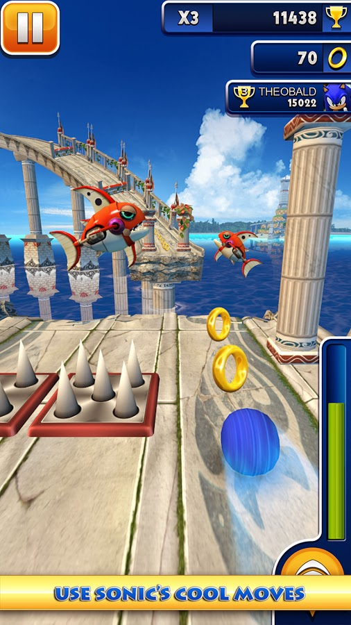 Sonic Dash v1.9.1 Mod [Unlimited Stars & Rings]